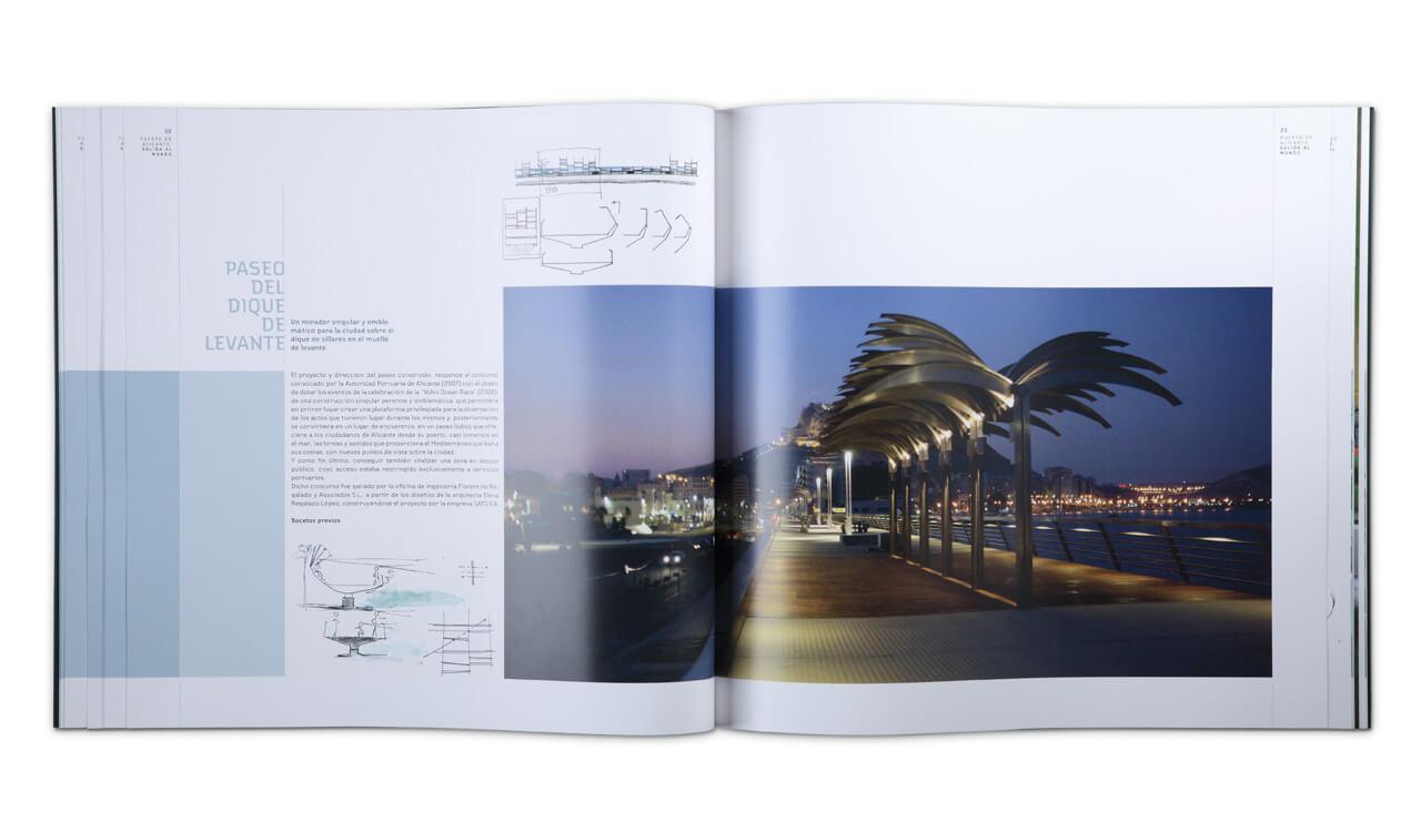 Composiciones y fotografías en cada página. Retoque de color fotográfico