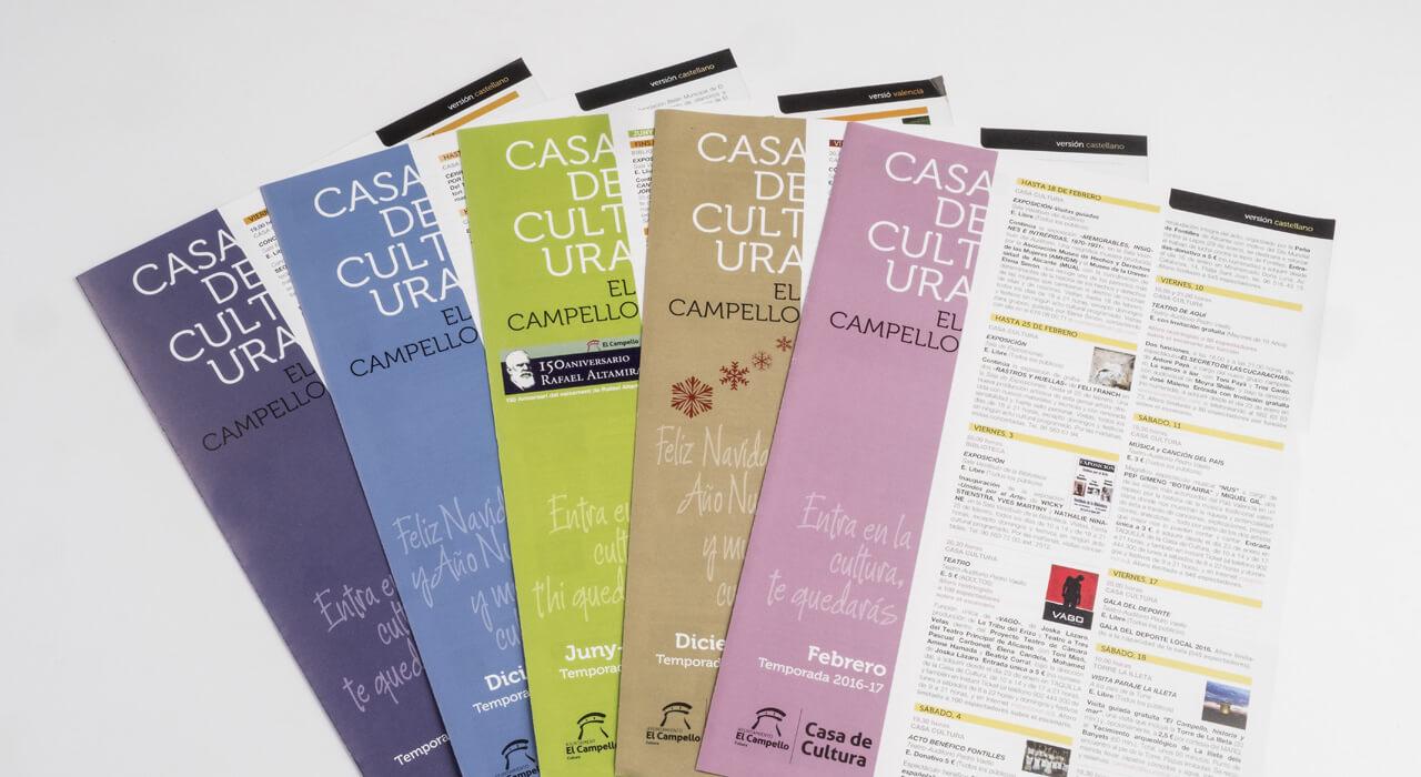 Tus folletos plegados a todo color